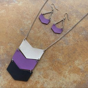 Urban Outfitters Leather Arrow Necklace Set